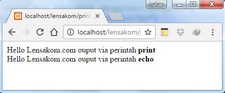 Memahami Fungsi Print dan Echo pada PHP