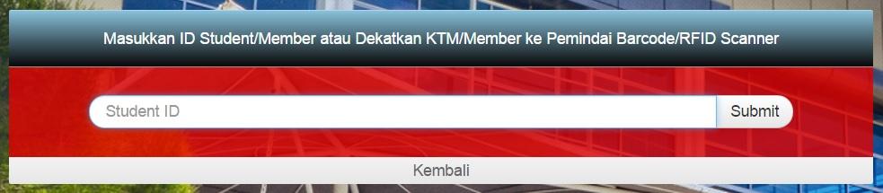 Aplikasi LMS - Halaman login pengguna berdasarkan ID Mermber Perpustakaann