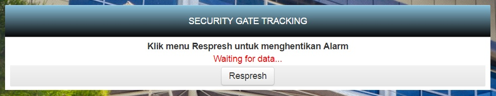 Aplikasi LMS - Halaman Menu Security Gate