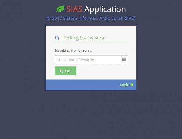 SIAS Pro - Form Tracking Progres Surat